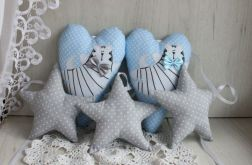 Girlanda w kotki i serca, dekoracja GOTOWA