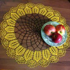 Serwetka szydełkowa słonecznik.