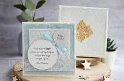 Kartka ślubna w pudełku. Personalizacja (s06)