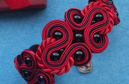 Czerwona z charakterna bransoletka sutasz