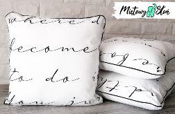 Dekoracyjna bawełniana poduszka ~ napisy