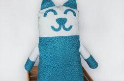 Kot ~ maskotka ~ turkusowe rozetki