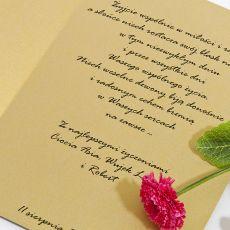 Kartka ślubna z Parą Młodą z sercem