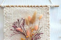 Makatka z suszonymi kwiatami