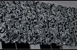 Czarno białe zasłony zazdroski lambrekin