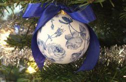 Bombka niebieskie kwiaty