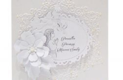 Pamiątka Komunii Św. biały wianek z kwiatem