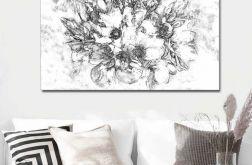 Obraz na płótnie czarno biały Grafika magnoli
