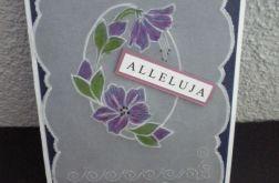 Kartka wielkanocna - malowana pisanka
