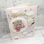 Kartka różowa z misiem na urodzinki UDP 009 - Kartka różowa z misiem  4