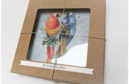Ślubne papużki-kartka w pudełku