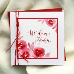 ślubna czerwone róże