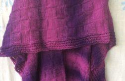 Ponczo w odcieniach fioletu