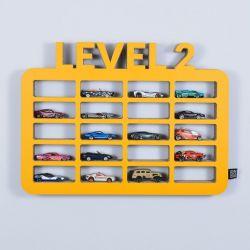 Półka na resoraki GARAŻ LEVEL2 | żółty