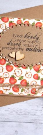 kartka ślubna - jabłuszka