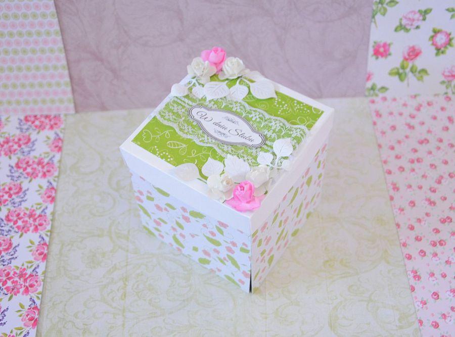Exploding box ślub kartka pudełko