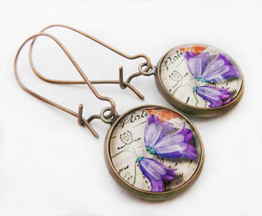 Fioletowe kwiaty -
