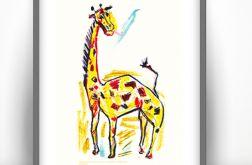 Żyrafa plakat do pokoju dziecięcego grafika