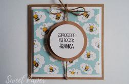 Zaproszenie na URODZINY z pszczółkami