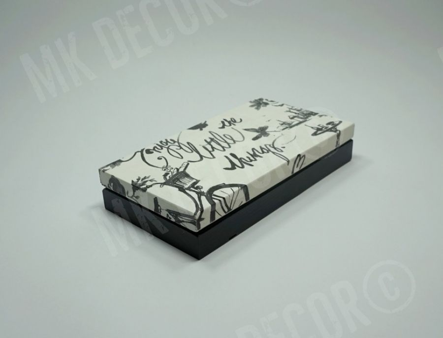 Drewniane prostokątne pudełko/szkatułka - szkatułka - przód 2