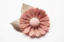 Spinka do włosów kwiat cameo pink