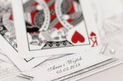 Karty do gry miłosny poker ślubna KS18007