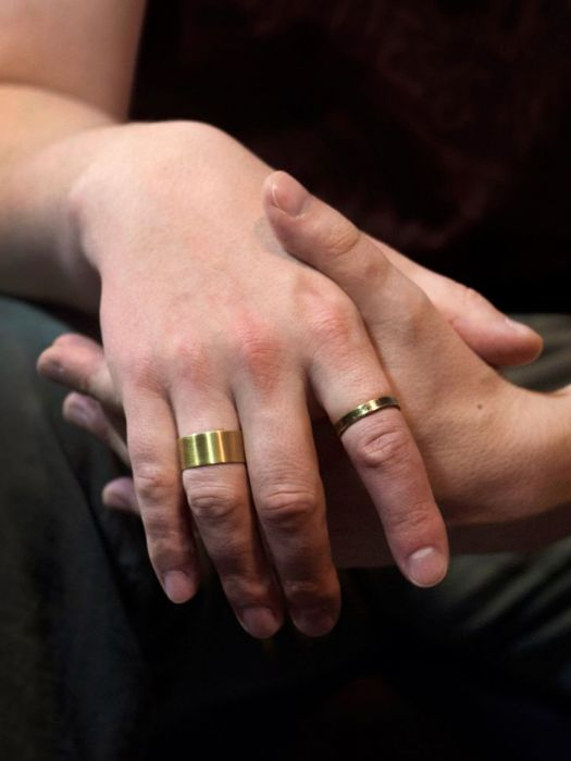 Mosiężna obrączka rozm. L 190901-02 - mosiężne pierścionki