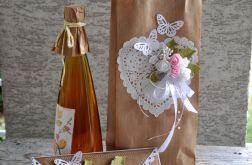 Kopertówka ślubna+ torebka na wino 3