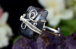 Srebrny pierścionek z agatem dendrytowym