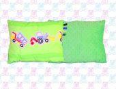 Poduszka dla Maluszka Minky pojazdy zielone