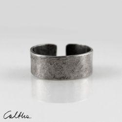 Kamień - srebrna obrączka 191129-01