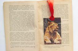 Vintage zakładka do książki - Lwy