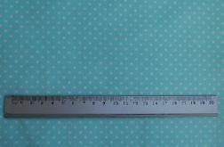 Tkanina miętowa w kropeczki - Polka Dot