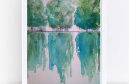 Drzewa -akwarela formatu A4