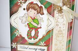 Kartka ze słodkim aniołkiem