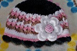 wiosenna czapka 0-3 mies.
