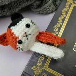 Szydełkowa zakładka do książki - Kot II - Zakładka kot