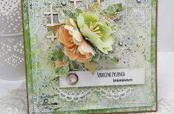 Imieninowe kwiaty- kartka w pudełku