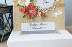Kartka w pudełku ślubna