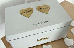 """Ślubne pudełko na koperty """"CR Gold"""""""