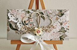 Kartka ślubna kopertówka serca