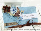 Kartka z okazji rocznicy ślubu- brązy