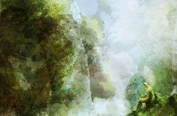 Obraz - Wodospad - płótno