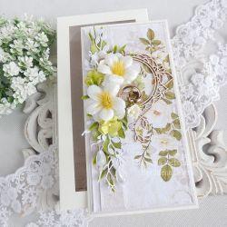 Ślubna kartka  w pudełku 254