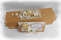 Eko pudełko i kopertówka na ślub