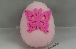 Jajko w tkaninie różowe
