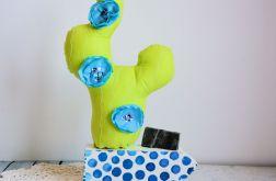 Kompozycja z kaktusem - niebieski