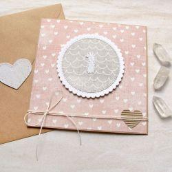 na roczek - kartka handmade dla dziewczynki I