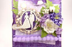 Ślubna - fiolety i Para Młoda