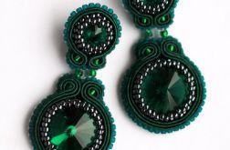 Kolczyki Emerald zielone sutasz butelkowe